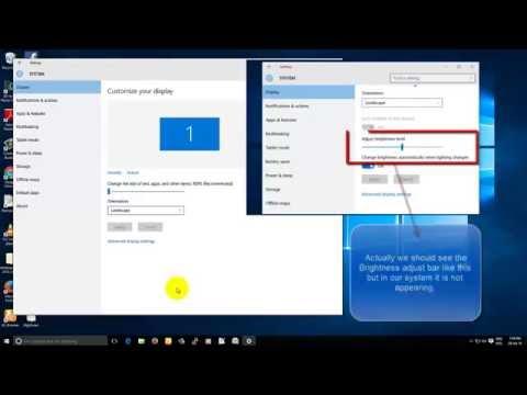 How to Fix Adjust monitor brightness in windows 10-windows 7 8 8.1 vista