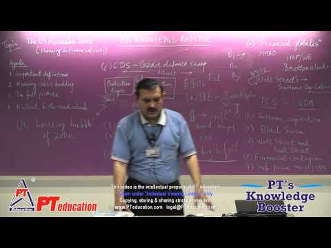 US Recession (Housing crisis) - Full 2.5 hrs session - PT's KB series - by Sandeep Manudhane sir