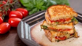 Roasted Tomato Grilled Cheese Sandwich Recipe by Home Cooking Adventure