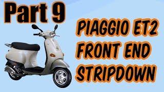4. Vid 9 Piaggio ET2 50cc Vespa Respray Strip The Front End
