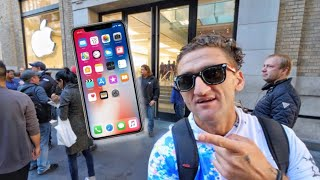 Video iPhone X - FIRST IN NYC TO GET - slept on the streets for 5 days MP3, 3GP, MP4, WEBM, AVI, FLV Juni 2018