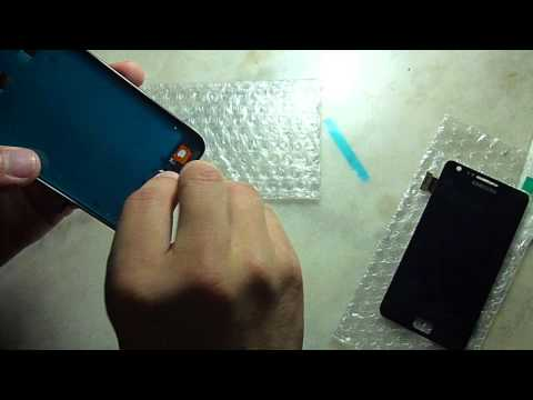 galaxy s2 - Samsung galaxy s2 i9100 frame installing work lcd screen digitizer.