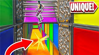 He made this SUPER cool UNIQUE level in this Deathrun... *HARD* (Fortnite Creative)