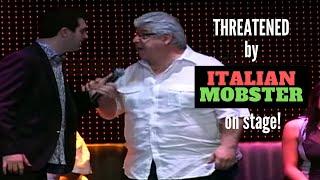 Hypnotist Marc Savard threatened by Italian mobster on stage!