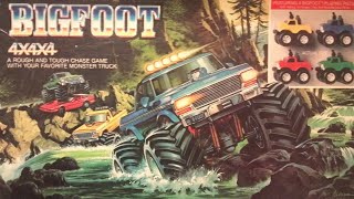 A review on how to play the board game Bigfoot 4x4x4. Got some new video editing software from Wondershare.The object of Bigfoot 4x4x4 is to crush the other players cars with your monster truck before they crush you.Your weapon against these high priced European sports cars - a tiny molded plastic Bigfoot, the king of the 80's monster trucks. The battlefield - an 11x11 grid, with both off-road terrain and an oval track. The goal - drive around the board, crushing the other cars without pity, whilst trying to keep your car away from the other players. The winner - the first one to crush four cars of the correct color.