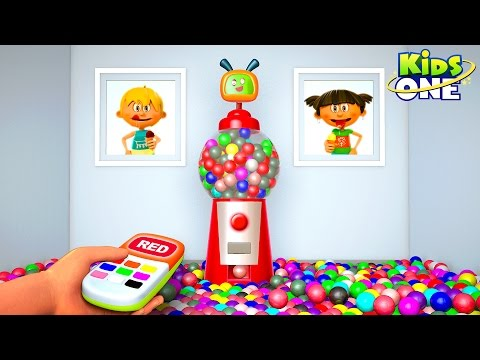 Gumball Machine For Kids to Learn Colors | Surprise Gumballs Red, Yellow & Blue for Children