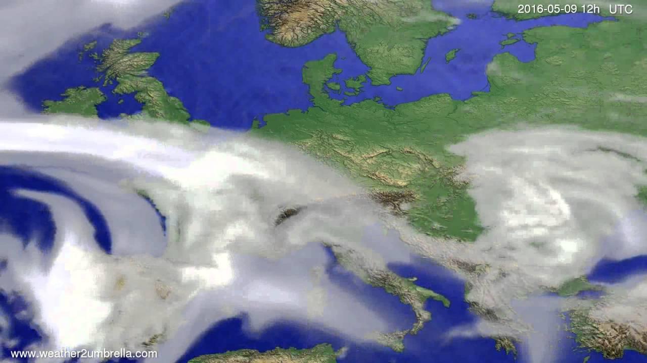 Cloud forecast Europe 2016-05-07