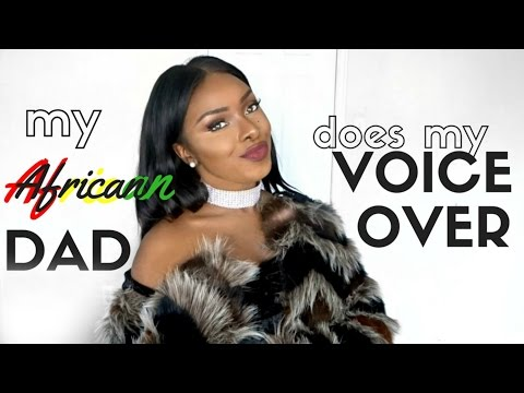 My African Dad Does My Voiceover.. AGAIN | Bold Lips + Neutral Eye