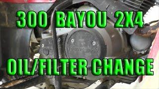 4. Kawasaki Bayou 300 Oil Change