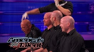 Bald Man Bongos: Howie Mandel Gets His Head Slapped - America's Got Talent 2014 (Highlight)