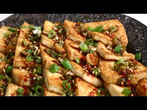 Korean Recipe: How to make Pan Fried Tofu Dish – Dubu Ganjang Jorim – Dubu Buchim Yangnyeomjang