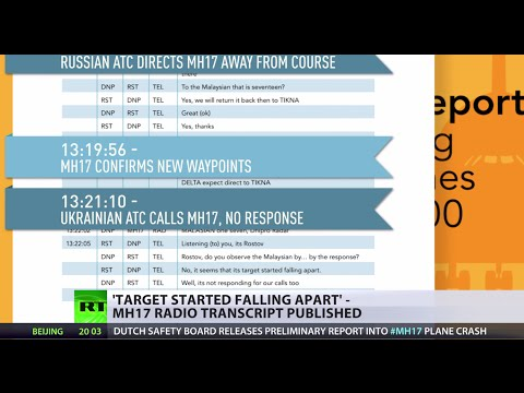'Target started falling apart' MH17 radio transcript released