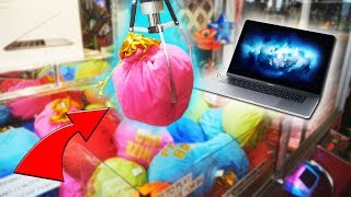 Video WON FROM THE MACBOOK MYSTERY BAG CLAW MACHINE! MP3, 3GP, MP4, WEBM, AVI, FLV Juli 2019
