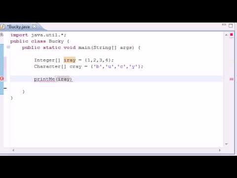 Intermediate Java Tutorial - 17 - Generic Methods