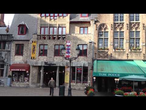 Bruges Market Square video