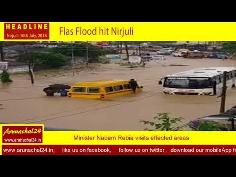 Arunachal-  Flash flood hits Nirjuli