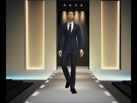 3D cloth simulation with Marvelous Clo3D (видео)