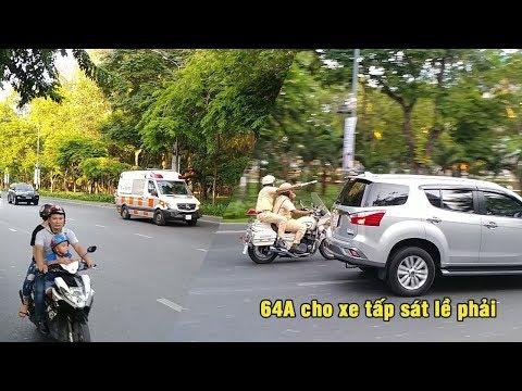 Cực hiếm CSGT đánh võng mở đường đoàn xe cứu thương về bệnh viện Chợ Rẫy- police escort ambulance - Thời lượng: 2:19.