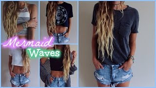 Mermaid Waves // Hair Tutorial - YouTube
