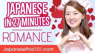 This is your ultimate compilation to learn how to speak about love and romance in Japan! And if you want to study more, click here https://goo.gl/luSqkt and get the best resources to learn in the most efficient way. ↓ More details below ↓Step 1: Go to https://goo.gl/luSqkt Step 2: Sign up for a Free Lifetime Account - No money, No credit card requiredStep 3: Achieve Your Learning Goal and master Japanese the fast, fun and easy way! You've decided to start learning Japanese, so let's build up your vocabulary! In this video, you'll learn some of the most important love words and phrases in the Japanese language. If you want to start learning Japanese, this video is made for you. Our host expresses herself in simple Japanese, with English subtitles. This video will challenge your listening comprehension skills and help you progress in your Japanese study.Follow and write to us using hashtag #JapanesePod101 - Facebook : https://www.facebook.com/JapanesePod101 - Google Plus : https://plus.google.com/+JapanesePod101 - Twitter : https://twitter.com/JapanesePod101