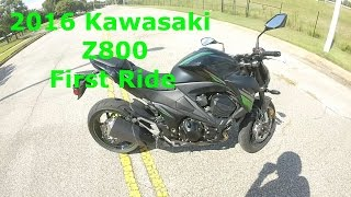 10. 2016 Kawasaki Z800 First Ride   Review