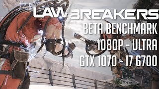 Sign up for the beta:http://lawbreakers.nexon.netPlaying on 1080p in all ULTRA settings with AA set to TAA.PC Specs:i7 6700 @ 3.4GhzGIGABYTE GA-H110M-AGIGABYTE GeForce GTX 1070 8GB OCFractal Design Core 1000 CaseEVGA 600W 80PLUSBG.SKILL NT Series 16GB 288-Pin DDR4 SDRAM DDR4Kingston 120GB V300 SSDWD Blue 1 TB HDWindows 10 64bitRecorded using Shadowplay @ 1080p 60FPS settings.Used MSI Afterburner + RivaTuner statistics server for FPS info.