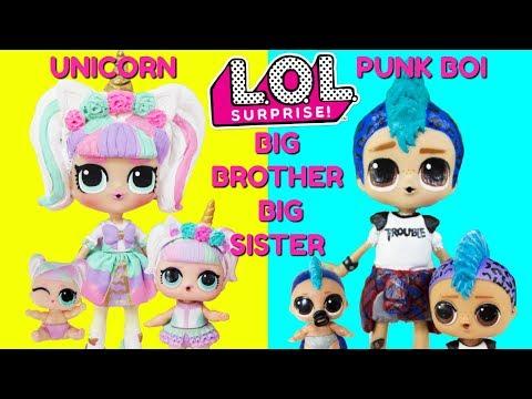 LOL SURPRISE Unicorn Big Sister Punk Boi Big Brother Compilation