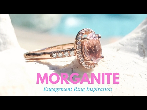 My Morganite dream Ring - oval morganite and diamond engagement ring
