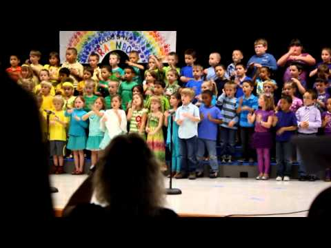 Kindergarteners Sign Language Song