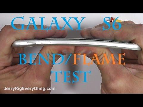 Galaxy S6'nın ateş, bükülme ve çizilme testi