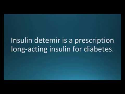 How to pronounce insulin detemir (Levemir) (Memorizing Pharmacology Flashcard)