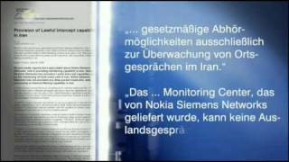 Nokia Siemens Network STILL Supports Iranian Regime (German TV With English Subtitles)