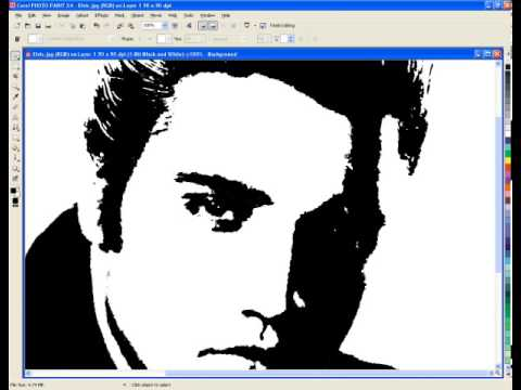 CorelDraw - Creating Black and White Protrait Stytle Images - Vector