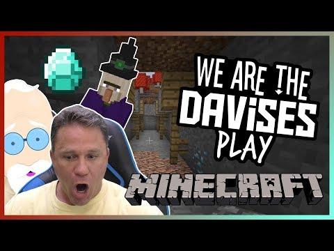 Finding The Mega Mine | Minecraft EP-7 | We Are The Davises Gaming (видео)