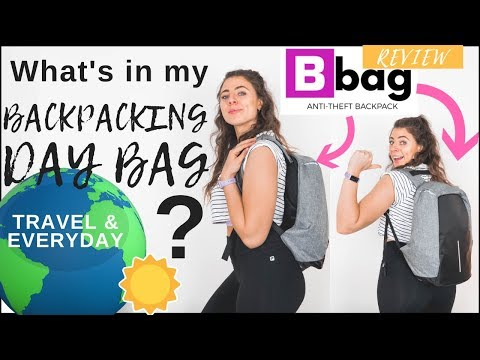 What's in my NEW EVERYDAY TRAVEL BACKPACK? (Bobby Anti-theft Backpack REVIEW)