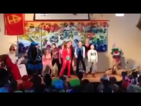 Opschep Piet! op bezoek bij een basisschool in Venray