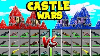 *TECH GUNS WEAPONS MOD* CASTLE WARS - MINECRAFT MODDED MINIGAME!