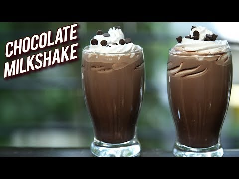 Chocolate Milkshake Recipe – Cafe Style Cold Coco – How To Make Chocolate Milkshake – Ruchi