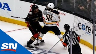 Ducks' Carter Rowney Levels Sabres' Victor Olofsson With Big Hit In Corner by Sportsnet Canada