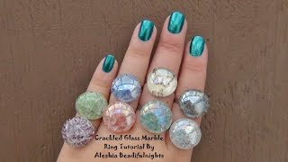 Crackled Glass Marble Ring Tutorial - YouTube