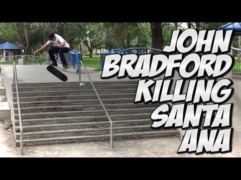 JOHN BRADFORD SKATES SANTA ANA PARK !!! - A DAY WITH NKA -