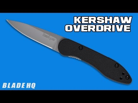 "Kershaw Overdrive OD-2 Flipper Liner Lock Knife (2.25"" Bead Blast) 1770"