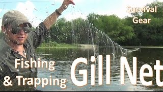 Survival Gill Net Fishing -B.O.B. Trapping Gear-