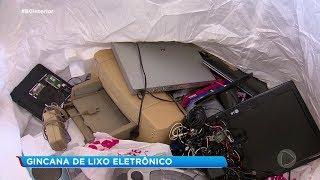 Alunos da rede municipal participam de gincana para arrecadar lixo eletrônico