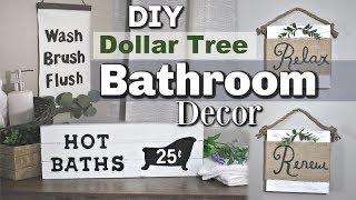 Dollar Tree Farmhouse Bathroom Decor | DIY Bathroom Dollar Tree Decor | Krafts by Katelyn