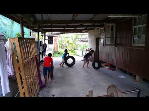 Playing tyres at 29 Ruve street