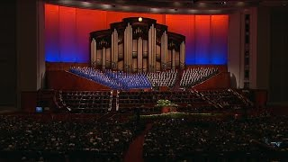 "The Mormon Tabernacle Choir sings, ""High on the Mountain Top."" https://www.lds.org/general-conference?lang=eng"