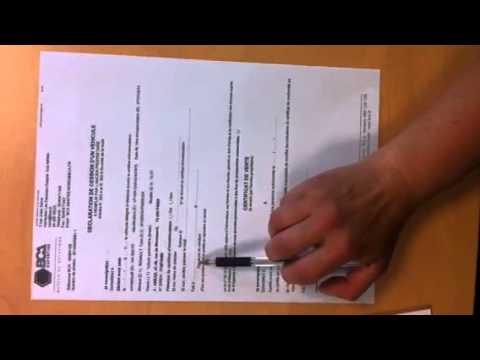 comment remplir papier de vente voiture
