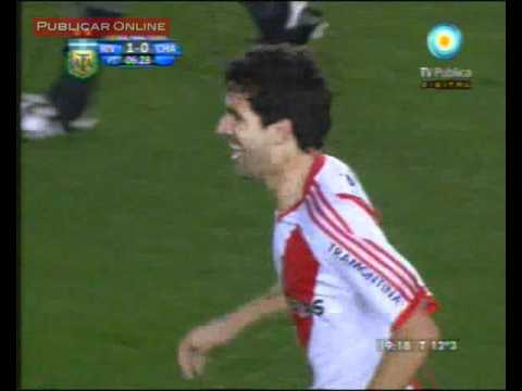 Video: gol Díaz – River 1 vs Chacarita 0 (parcial)