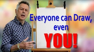 All those teachers who claim they were teaching children to write were wrong, they were doing something quite different. This  video explains everything. In this short motivational art video I explain that everyone in the world can draw, providing they can write. I'll show how our brains are programmed to read shapes and these simple shapes occur in our writing and in our drawing.  I'll show that teachers were not teaching you to write but to draw. What I'm aiming to do here is to motivate people and show that if you can write you can draw and just how ridiculous the statement, 'I can't draw really is'.  Apologies for the Chinese character that appears in this video, I checked it out on Goggle Translate, but it's been pointed out it's not good calligraphy. Checkout:art-tutorialsonline.comartistinschool.comaboutgreatpainters.comfor lots of interesting stuff about art and how to draw and paint
